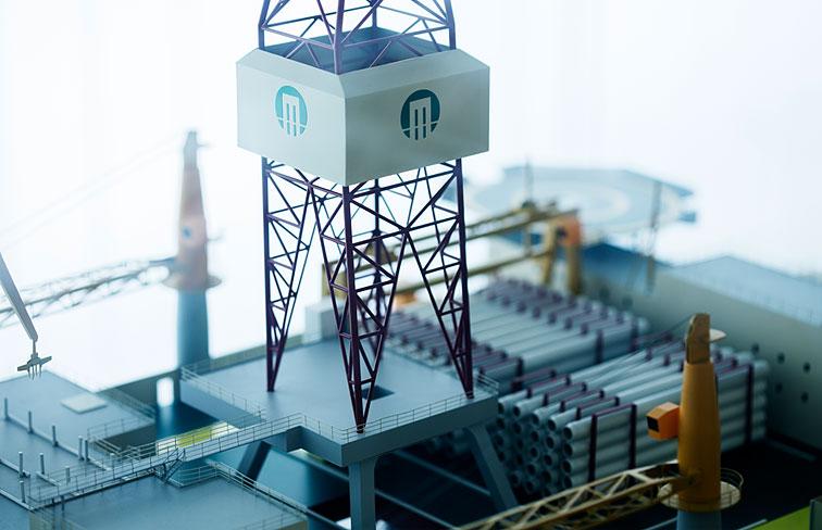 Moss Maritime, rigg modell